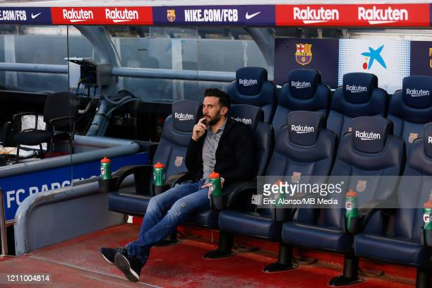 Eder Sarabia of FC Barcelona in the sidelines during the Liga match between FC Barcelona and Real Sociedad at Camp Nou on March 07 2020 in Barcelona...