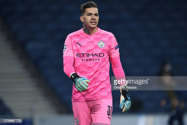 Ederson Moraes of Manchester City in action during the UEFA Champions League Group C stage match between FC Porto and Manchester City at Estadio do...