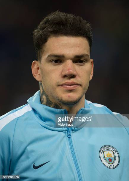 Ederson of Manchester City during the UEFA Champions League group F match between Manchester City and Feyenoord at Etihad Stadium on November 21 2017...