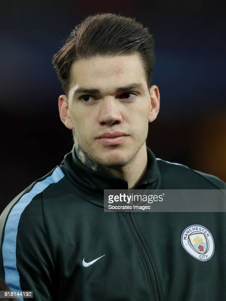 Ederson of Manchester City during the UEFA Champions League match between Fc Basel v Manchester City at the St JakobPark on February 13 2018 in Basel...