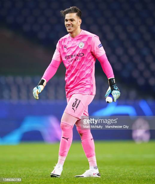 Ederson of Manchester City in action during the UEFA Champions League Group C stage match between FC Porto and Manchester City at Estadio do Dragao...