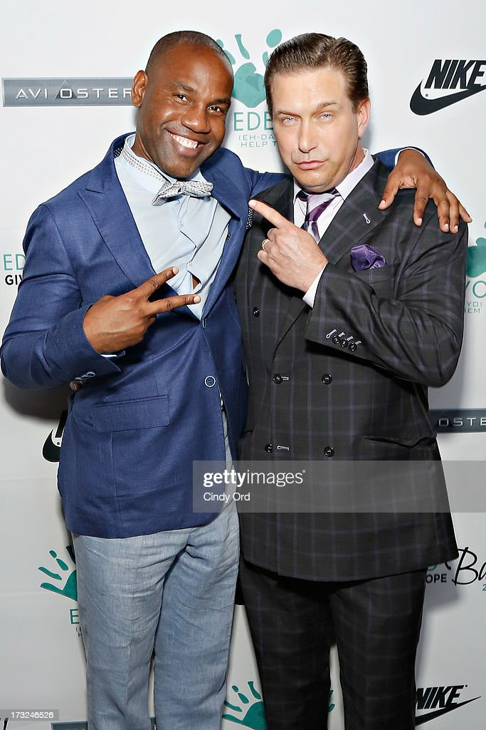 Edeyo Foundation founder Unik Ernest and actor Stephen Baldwin attend the 2013 Edeyo Gives Hope Ball at Highline Ballroom on July 10, 2013 in New York City.