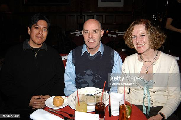 Edgar Abalos Vincent Brady and Marjorie Brady attend Kim Garfunkel performance at Au Bar on January 17 2005 in New York City