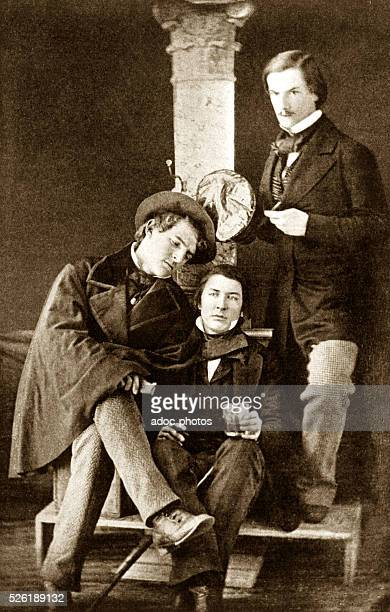Edgar Allan Poe American writer and poet with friends from the University of Virginia Miles George and Thomas Goode Tucker According to a...