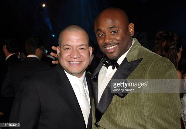 Edgar Andino and Steve Stout during Jacob The Jeweler's 40th Birthday Party at Cipriani's in New York City New York United States