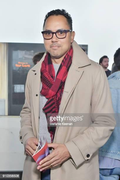Edgar Arceneaux at OPENING NIGHT   ART LOS ANGELES CONTEMPORARY 9TH EDITION at Barkar Hangar on January 25 2018 in Santa Monica California