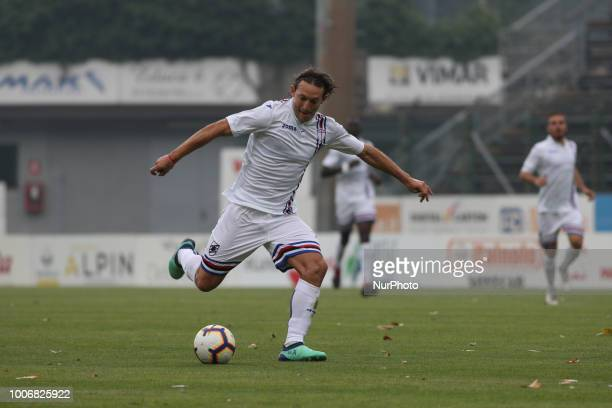 Edgar Barreto during the PreSeason friendly between Sampdoria and Parma in Trento on July 28 Italy