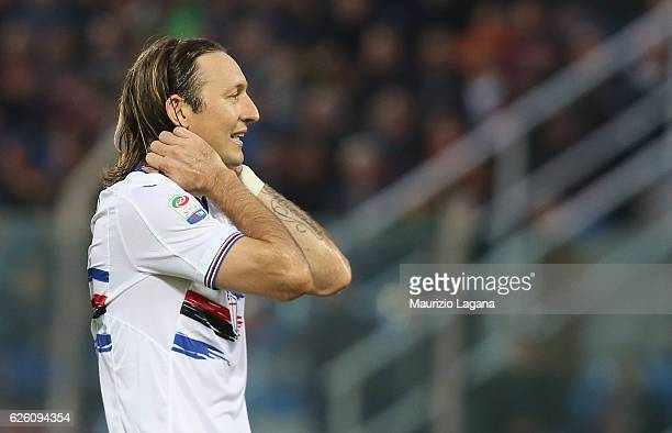 Edgar Barreto of of Sampdoria during the Serie A match between FC Crotone and UC Sampdoria at Stadio Comunale Ezio Scida on November 27 2016 in...