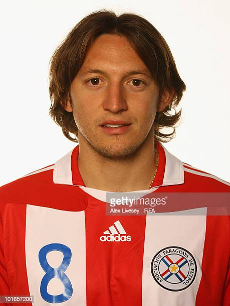 Edgar Barreto of Paraguay poses during the official FIFA World Cup 2010 portrait session on June 5 2010 in Durban South Africa