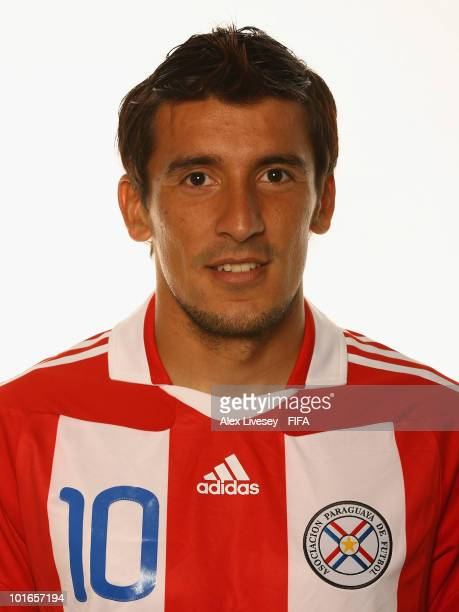 Edgar Benitez of Paraguay poses during the official FIFA World Cup 2010 portrait session on June 5 2010 in Durban South Africa