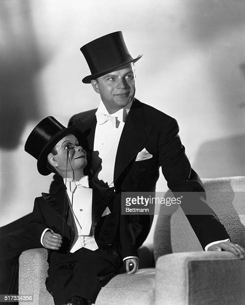 Edgar Bergen American ventriloquist and his dummy Charlie McCarthy Undated photograph