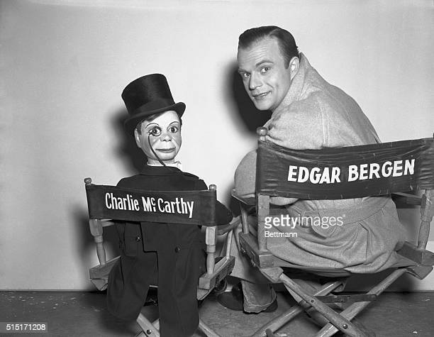 Edgar Bergen with his ventriloquists' dummy Charlie McCarthy
