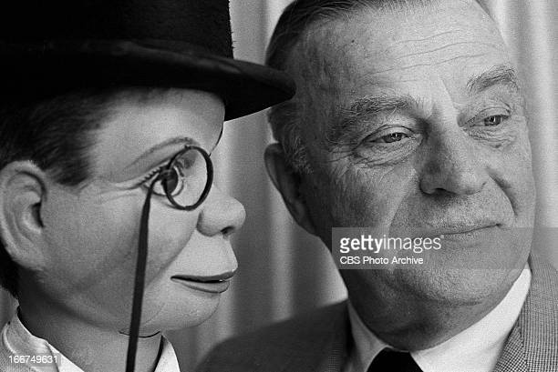 Edgar Bergen with puppet Charlie McCarthy on THE SMOTHERS BROTHERS COMEDY HOUR Image dated December 8 1967