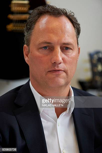 Edgar Berger Chairman and CEO International Sony Music Entertainment attends a press conference hosted by the International Federation of the...