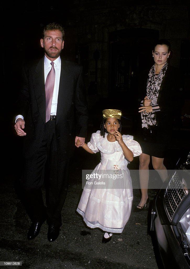 Edgar Bronfman Jr , daughter Vanessa, and Clarissa Alcock News Photo