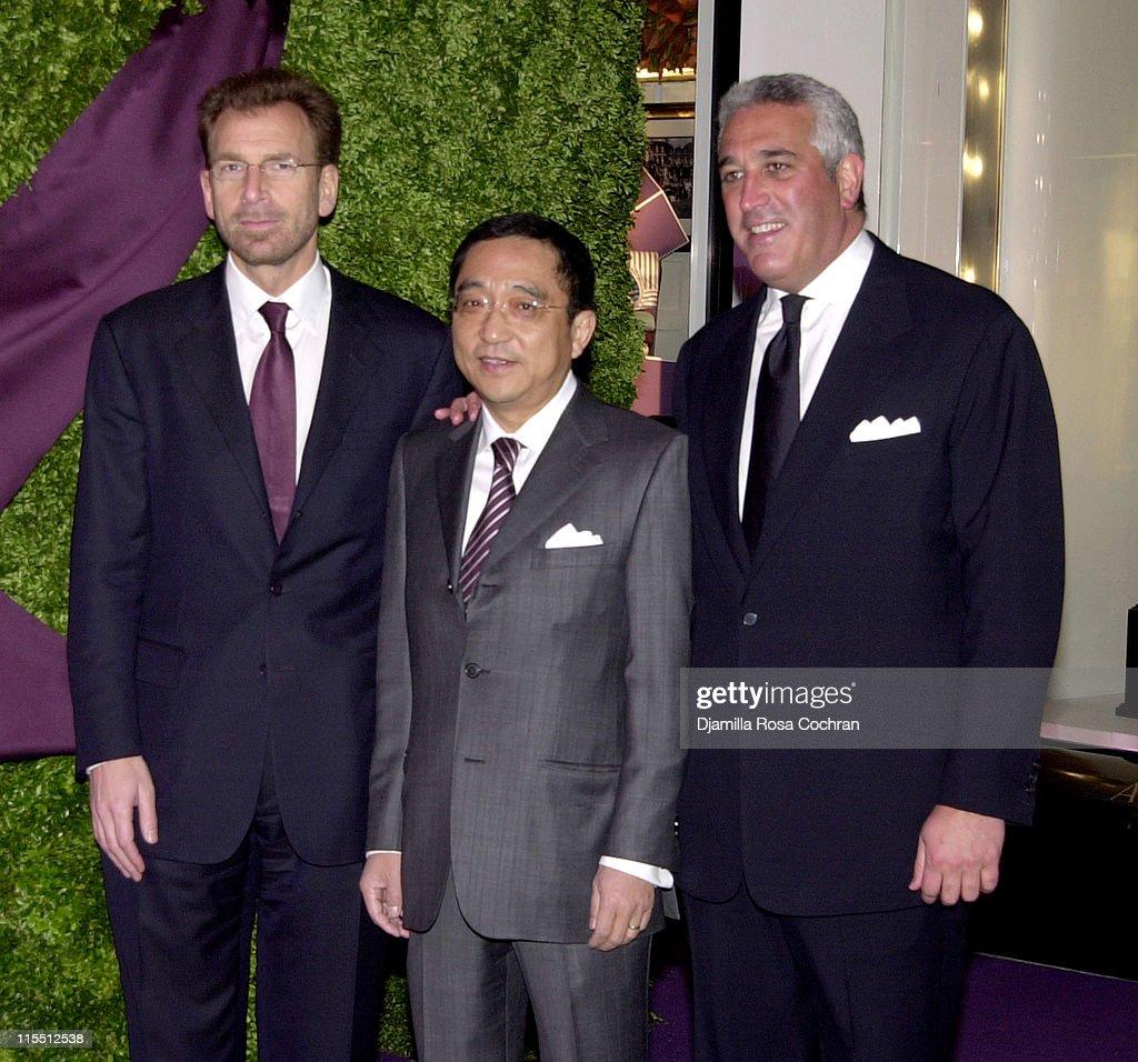 Edgar Bronfman Jr , Silas K F Chou and Lawrence Stroll News Photo