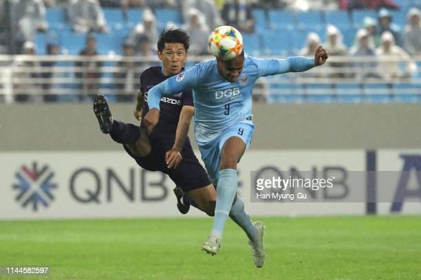 Edgar Bruno Da Silva of Daegu FC in action during the AFC Champions League Group F match between Daegu FC and Sanfrecce Hiroshima at Daegu Forest...