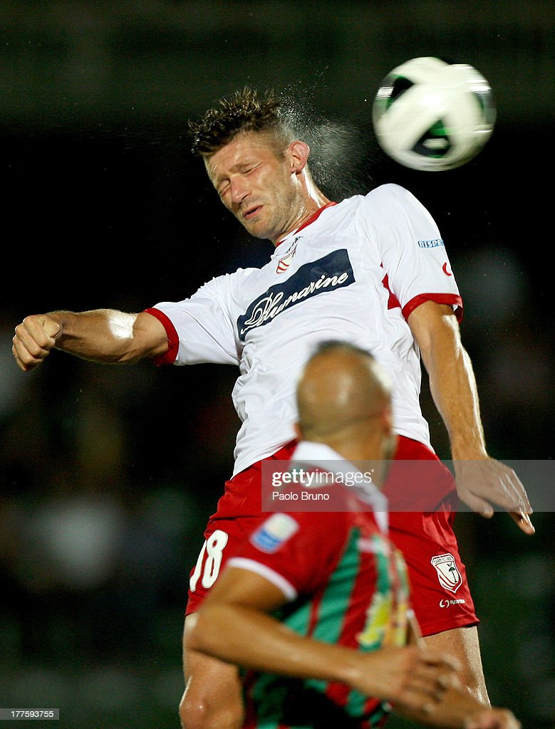 Edgar Cani of Carpi FC in action during the Serie B match between Ternana Calcio and Carpi FC at Stadio Libero Liberati on August 24, 2013 in Terni, Italy.