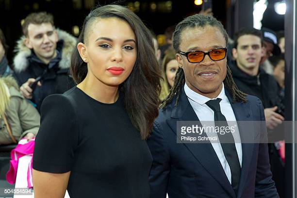 Edgar Davids and Louise Hazel arrive for the FIFA Ballon d'Or Gala 2015 at the Kongresshaus on January 11 2016 in Zurich Switzerland