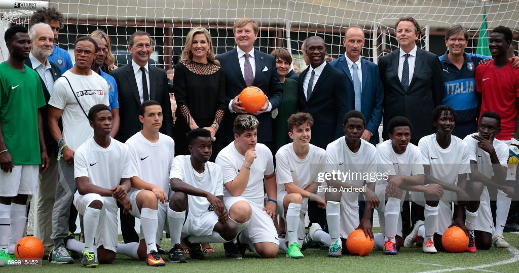 Italian Football Federation Welcomes Dutch Royals