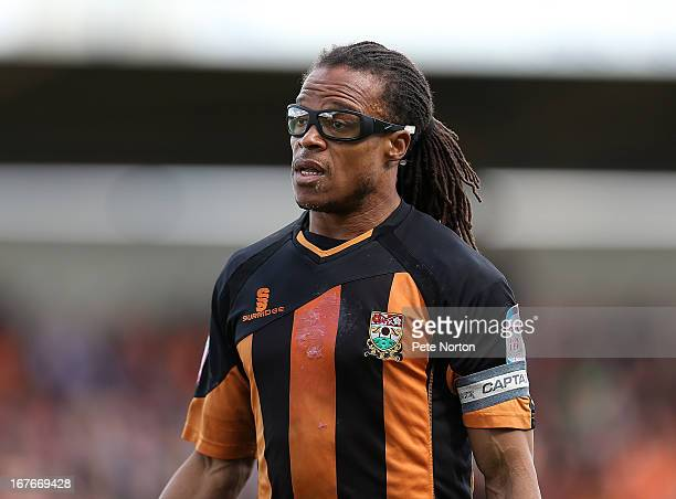 Edgar Davids of Barnet in action during the npower league Two match between Northampton Town and Barnet at Sixfields Stadium on April 27 2013 in...