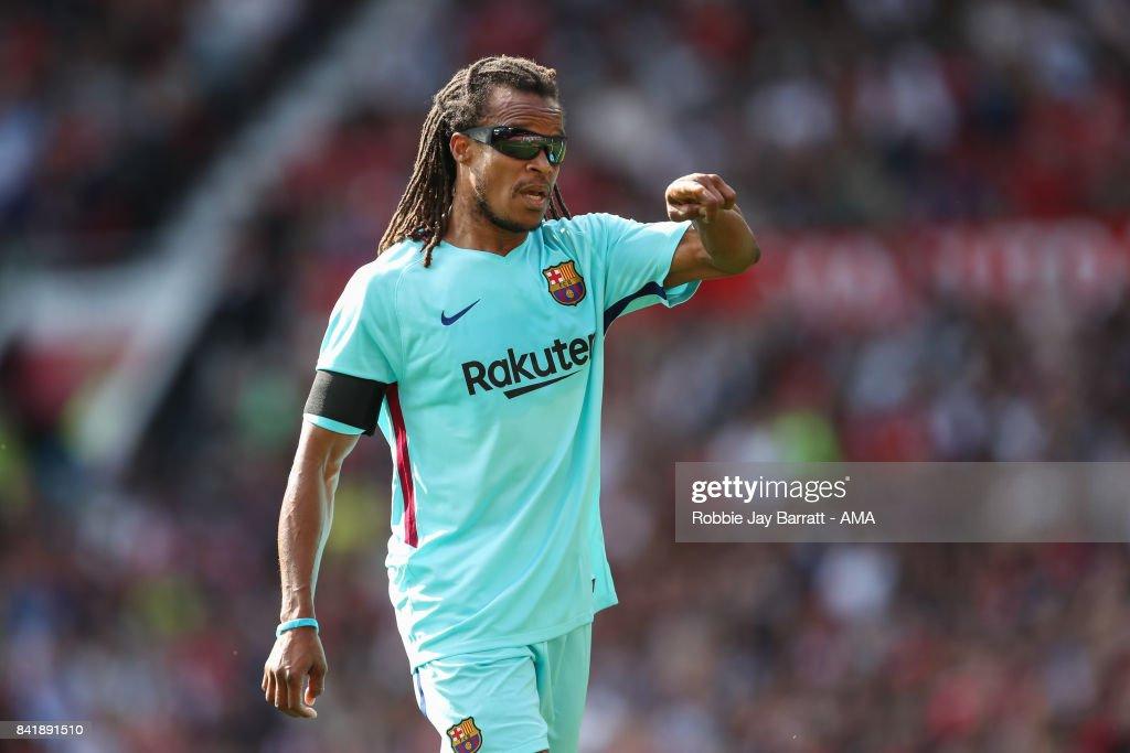 Manchester United Legends v FC Barcelona Legends : News Photo