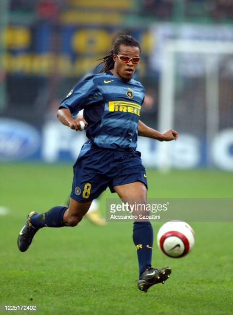 Edgar Davids of FC Internazionale in action during the Serie A 2004, Italy.