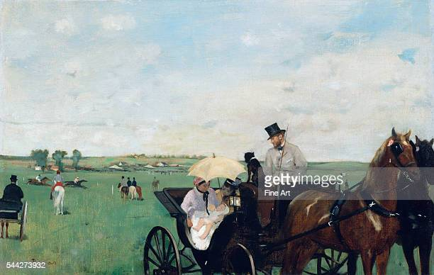 Edgar Degas At the Races in the Countryside oil on canvas 365 x 559 cm Museum of Fine Arts Boston