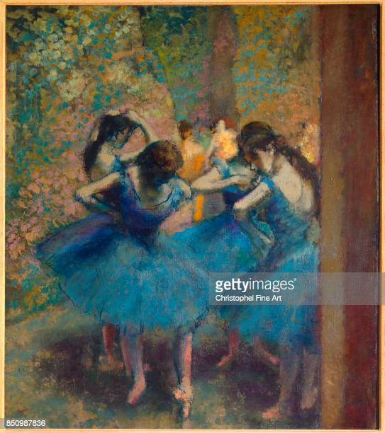 Edgar Degas Blue Dancers 1893 Oil on canvas 085 x 075 m Paris musee d Orsay