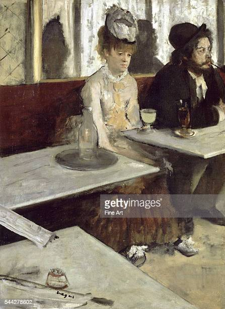 Edgar Degas Dans un café dit aussi l'Absinthe oil on canvas 92 x 68 cm Musee d'Orsay Paris