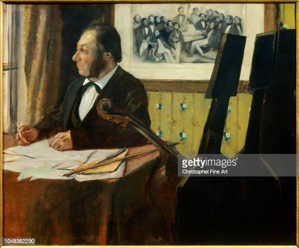 Edgar Degas Portrait of Louis Marius Pilet cellist of the orchestra of the Opera 1869 Oil on canvas 050 x 061 m Paris Orsay Museum