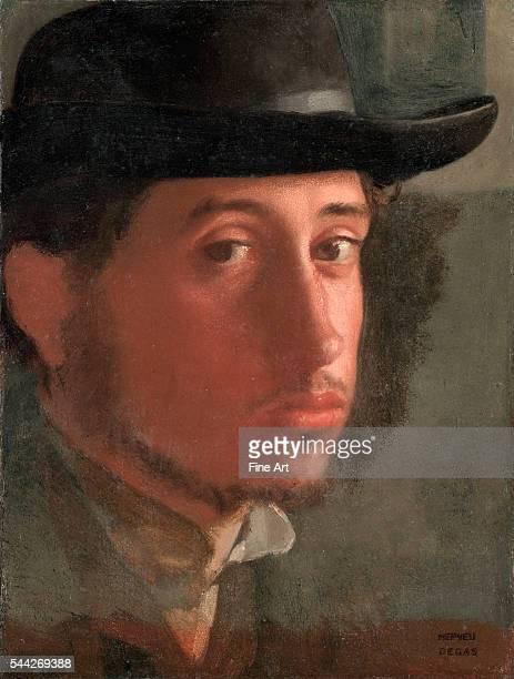 Edgar Degas SelfPortrait 18578 oil on paper 21 x 162 cm J Paul Getty Museum Malibu California