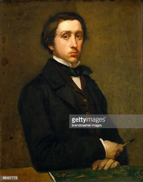 Edgar Degas selfportrait Oil on canvas 81 x 645 cm [Edgar Degas selfportrait oel/Lw 81 x 645 cm]