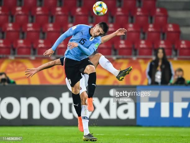 Edgar Elizalde of Uruguay U20, Erling Haland of Norway U20 during the FIFA U-20 World Cup Poland 2019 group C match between Uruguay U20 v Norway U20...