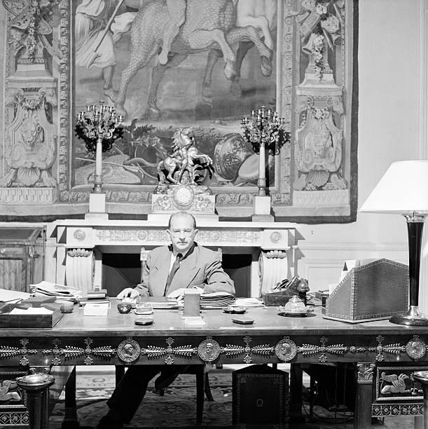 edgar faure in his office paris edgar faure dans un bureau minist riel l 39 homme politique. Black Bedroom Furniture Sets. Home Design Ideas