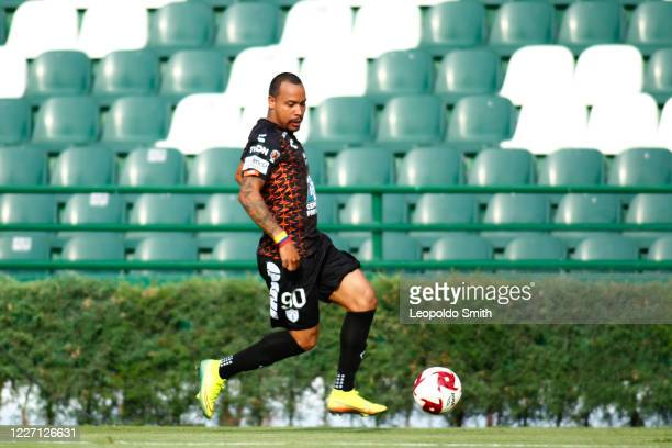 Edgar Felipe Pardo of Pachuca in action during a match between Pachuca and Atletico San Luis as part of the friendly tournament Copa Telcel at Leon...
