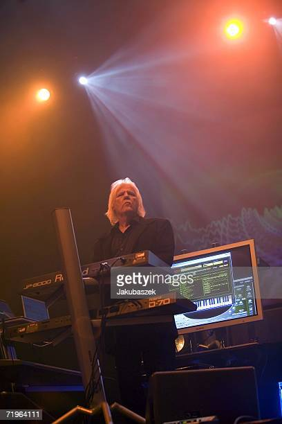 Edgar Froese and his 39 year old german synthie band Tangerine Dream performs live during a concert at the Tempodrom September 21 2006 in Berlin...