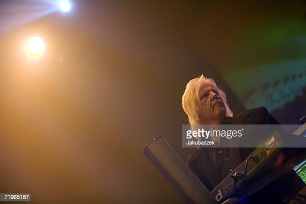 Edgar Froese and his 39 year old german synthie band Tangerine Dream performs live during a concert at the Tempodrom on September 21 2006 in Berlin...