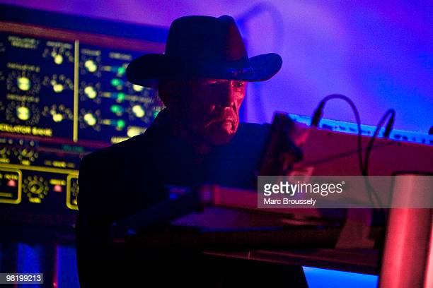 Edgar Froese of Tangerine Dream performs on stage at Royal Albert Hall on April 1 2010 in London England