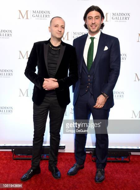 Edgar Hay and Sam Palmer attend the VIP Opening of Maddox Gallery Exhibition Best Of British at Maddox Gallery on October 11 2018 in Los Angeles...
