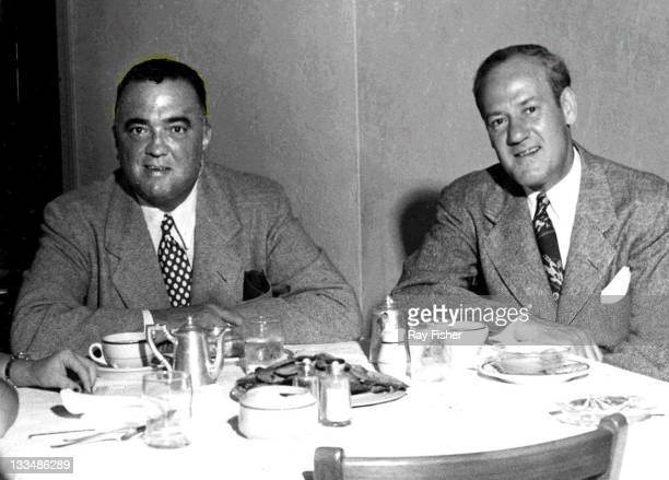 Edgar Hoover and Clyde Tolson vacationing in Miami Beach, 1948.