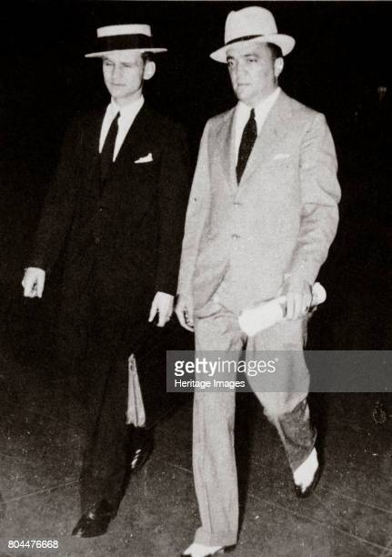 J Edgar Hoover chief of the FBI with head of the Chicago office Melvin Purvis USA mid 1930s John Edgar Hoover was appointed Director of the Bureau of...