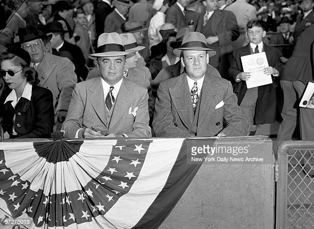 J Edgar Hoover director of the FBI and Clyde Tolson assistant director at the World Series
