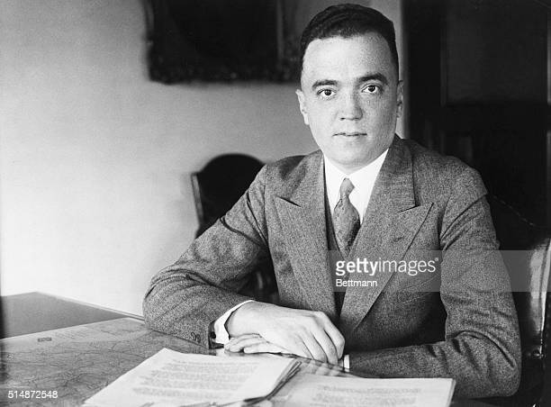 J Edgar Hoover in the early part of his career Photograph 1920's
