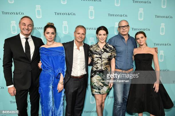 Edgar Huber Ana de Armas guest Riley Keough Reed Krakoff and Zoey Deutch attend the Tiffany Co Fragrance launch event on September 6 2017 in New York...