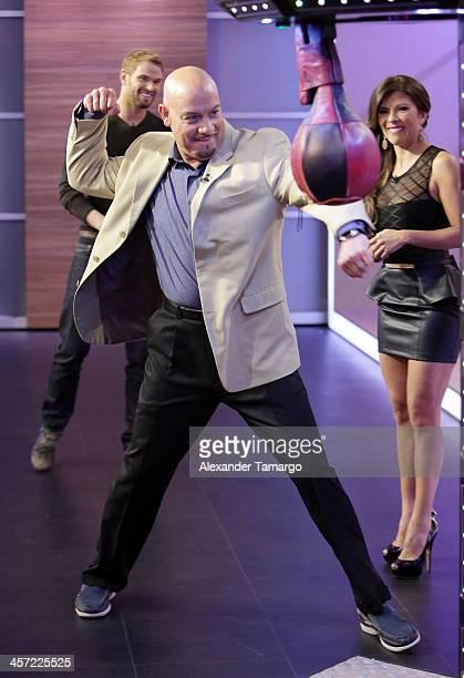 Edgar Lopez is seen at Telemundo Studio on December 16, 2013 in Miami, Florida.