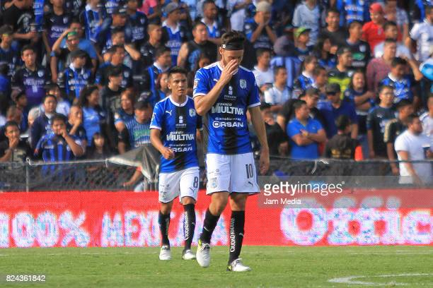 Edgar Lugo of Queretaro looks dejected during the 2nd round match between Queretaro and Lobos BUAP as part of the Apertura Tournament 2017 league...