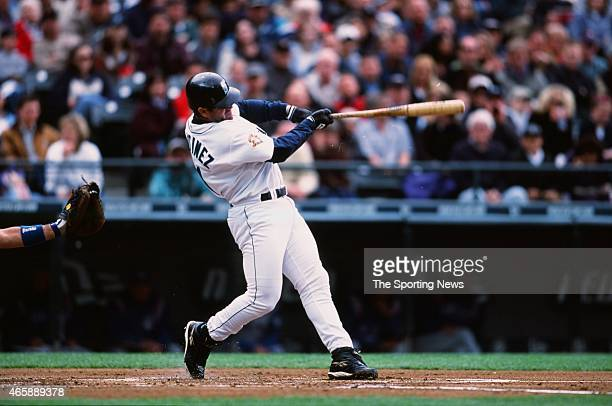 Edgar Martinez of the Seattle Mariners bats against the Toronto Blue Jays at Safeco Field on May 5 2001 in Seattle Washington