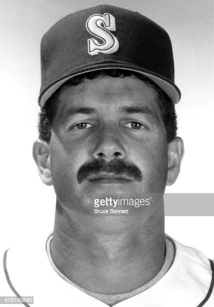 Edgar Martinez of the Seattle Mariners poses for a portrait in March 1990 in Seattle Washington