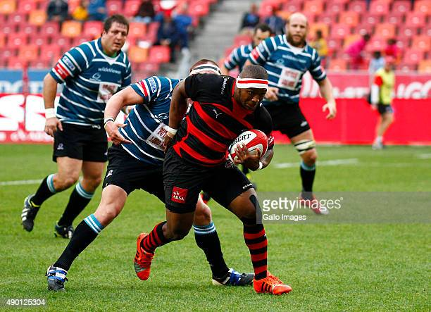 Edgar Marutlulle of the EP Kings during the Absa Currie Cup match between Eastern Province Kings and ORC Griquas at Nelson Mandela Bay Stadium on...
